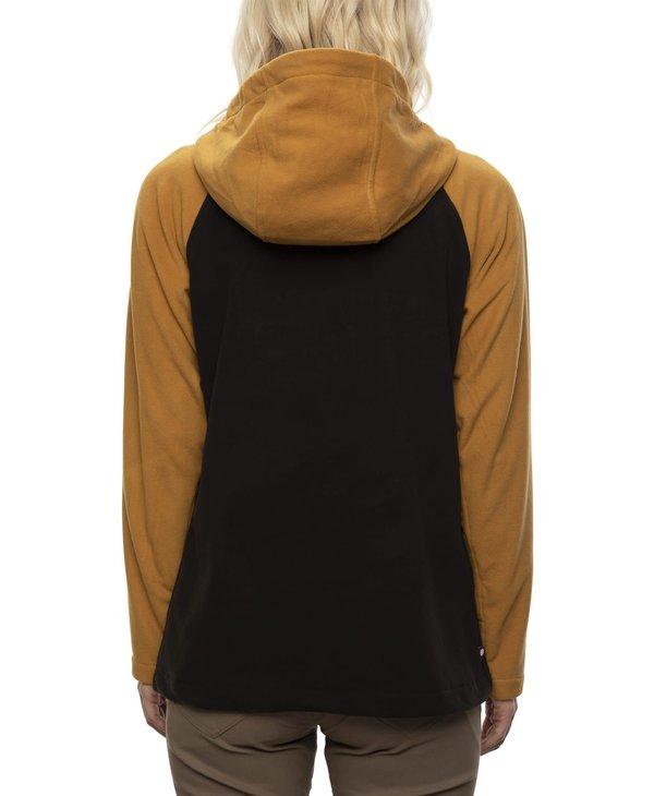 686 - Polar femme hemlock fleece hoody golden brown colorblock