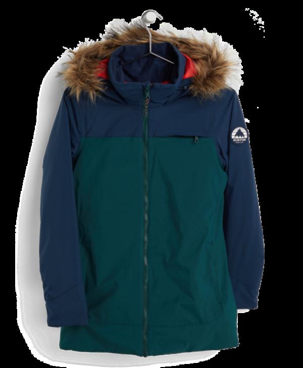 Burton - Manteau femme lelah dress blue/ponderosa pine