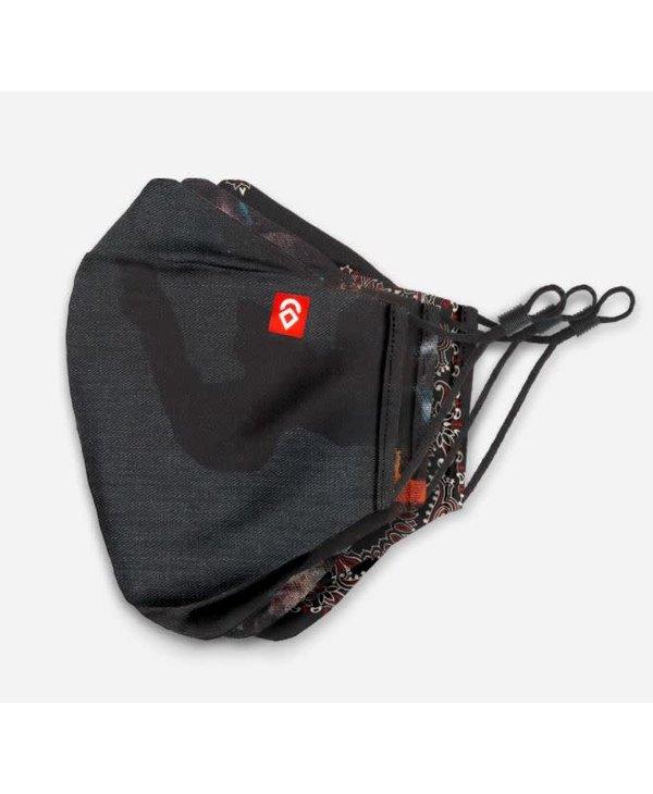 Airhole - Masques advanced shibuya 3 pack stealth camo/studio/black paisley