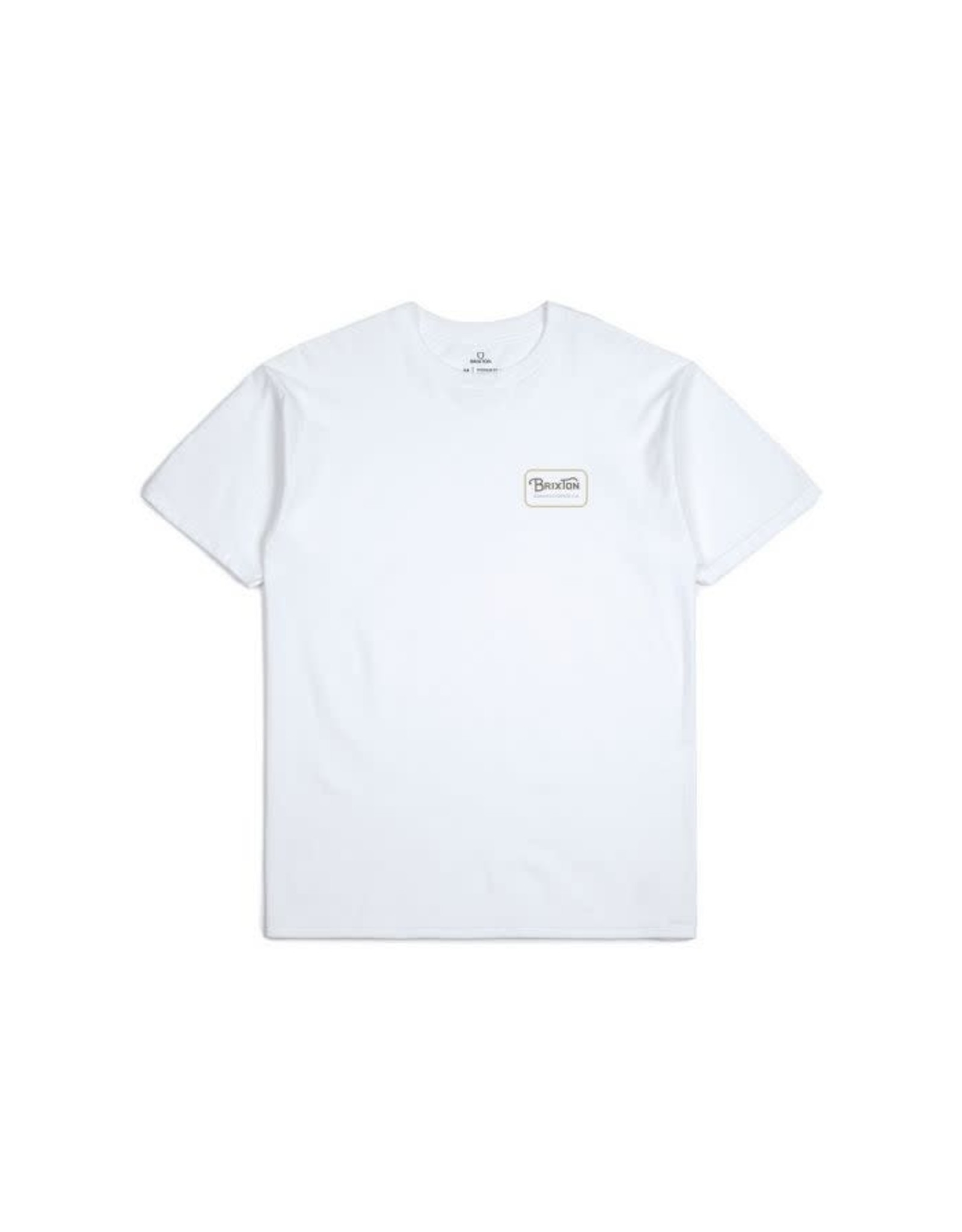 Brixton Brixton - T-shirt homme grade standard white/khaki