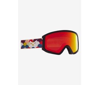 Anon - Lunette snowboard junior tracker 2.0 rainbow black/red solex lens
