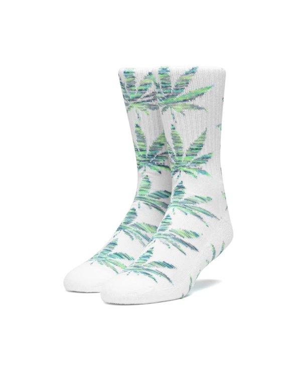 Huf - Bas homme plantlife melange leaves white