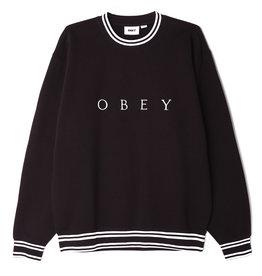 Obey Obey - Ouaté homme warp crew specialty black multi