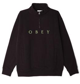 Obey Obey - Ouaté homme lassen mock neck zip specilty black