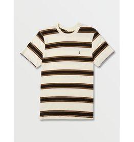 volcom Volcom - T-shirt junior da fino stripe crew primer white