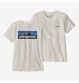 Patagonia Patagonia - T-shirt femme p-6 logo organic crew white