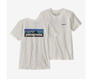 Patagonia - T-shirt femme p-6 logo organic crew white