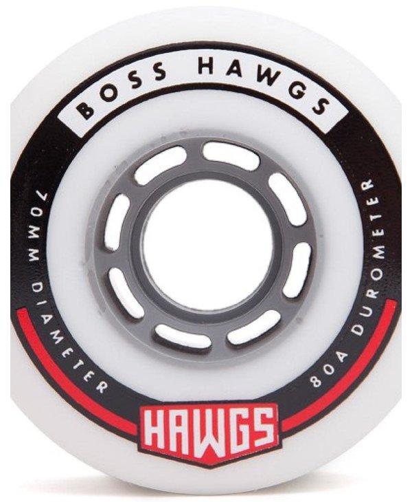 Hawgs - Roues longboard boss hawgs blanc 80A