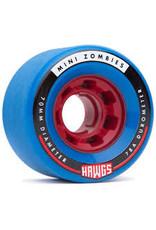 Hawgs - Roues longboard mini bombies bleu 78A