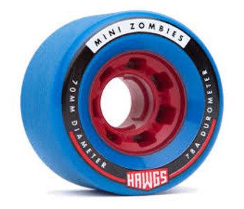 Hawgs - Roues longboard mini zombies bleu 78A
