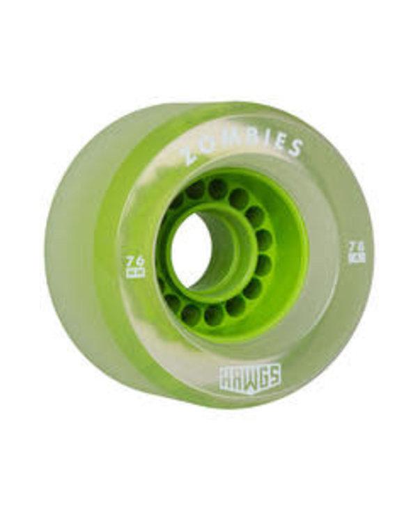Hawgs - Roues longboard bombies  vert clair 78A