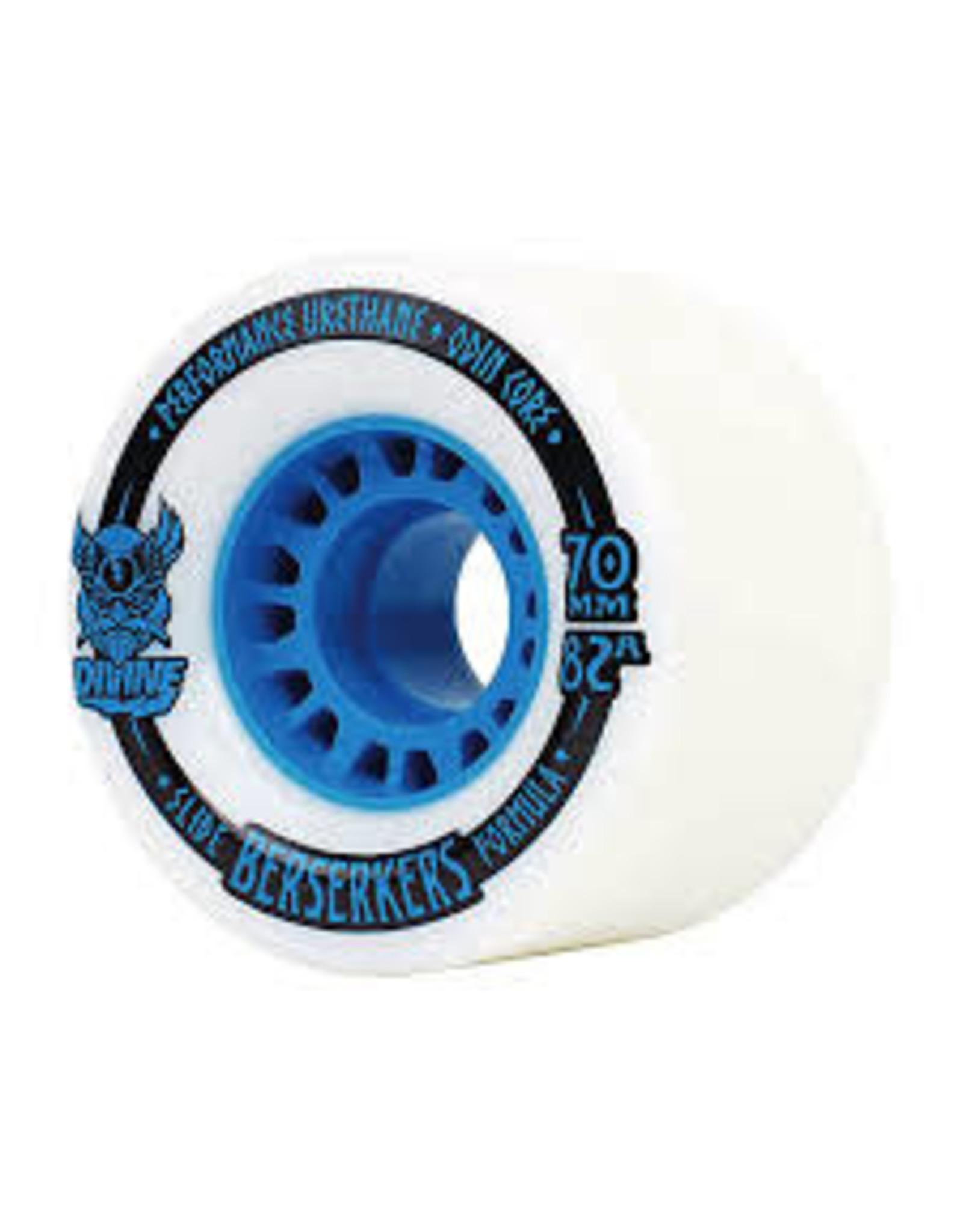 Divine - Roues longboard berserkers blau 82A