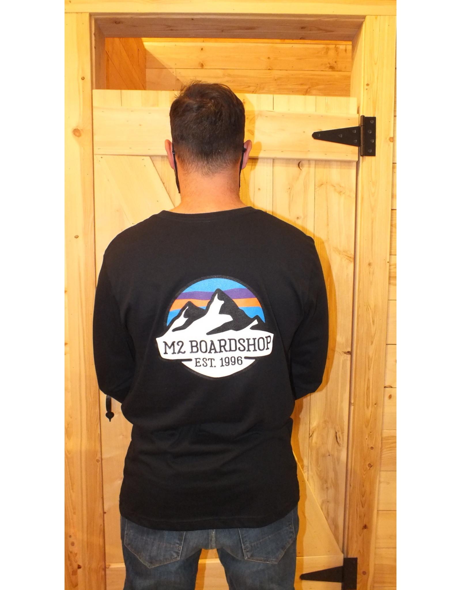 m2 boardshop M2 - Chandail long homme m2 mountain logo black