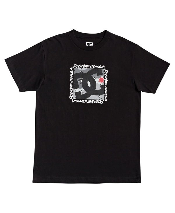 Dc - T-shirt homme big dc square black