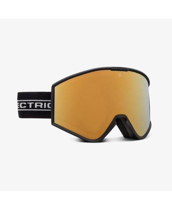 Electric - Lunette snowboard homme kleveland+ black tape/lens brose gold chrome