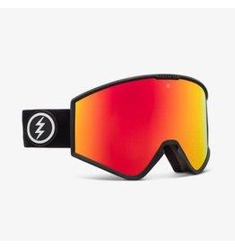 electric Electric - Lunette snowboard homme kleveland matte black/lens brose red chrome