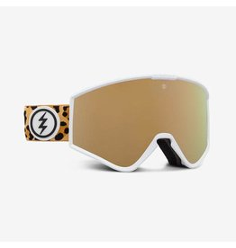 electric Electric - Lunette snowboard femme kleveland small leopard/lens brose gold chrome