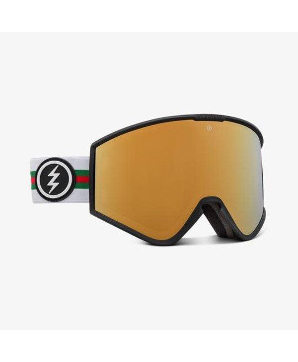 Electric - Lunette snowboard homme kleveland+ forza/lens brose gold chrome
