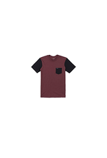rvca Rvca - T-shirt junior ollie color block oxblood red