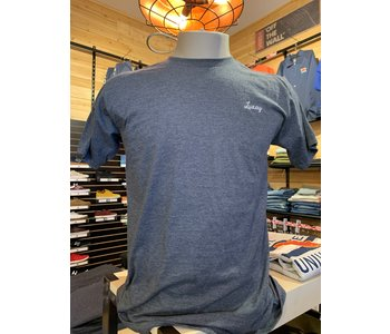 Luxey - T-shirt homme signature heather blue