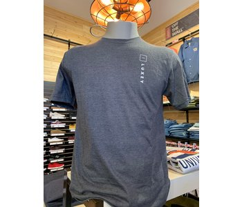 Luxey - T-shirt homme up/side down heather charcoal