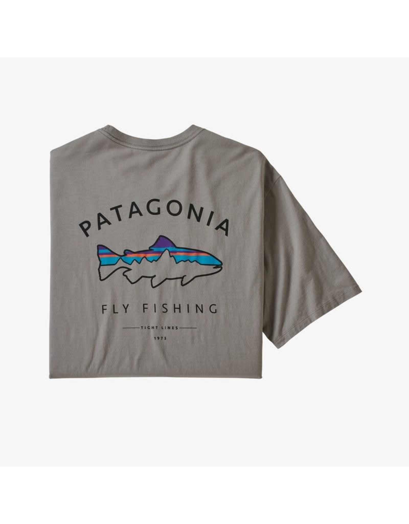 Patagonia Patagonia - T-shirt homme framed fitz roy trout organic feather grey