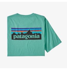 Patagonia Patagonia - T-shirt homme p-6 logo organic light beryl green