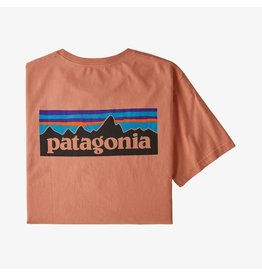 Patagonia Patagonia - T-shirt homme p-6 logo organic mellow melon