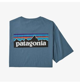 Patagonia Patagonia - T-shirt homme p-6 logo organic pigeon blue