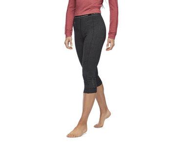 Black Diamond - Pantalon femme solution 150 merino base 3/4 black