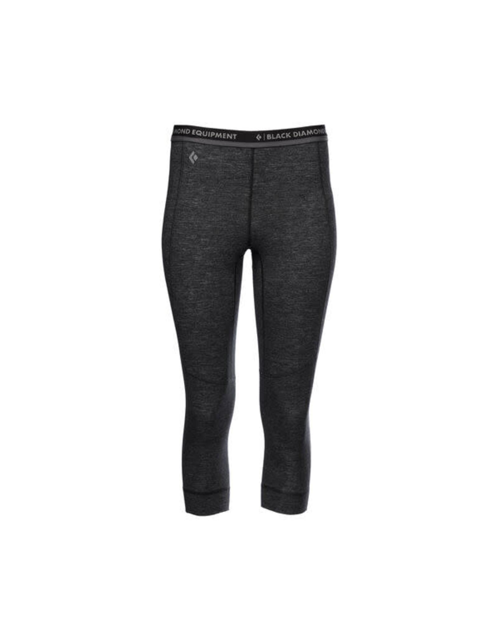 Black Diamond Black Diamond - Pantalon femme solution 150 merino base 3/4 black