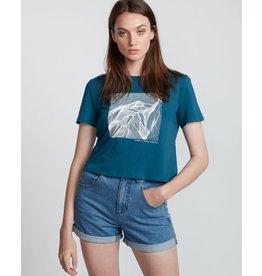 element Element - T-shirt femme christa crop legion blue
