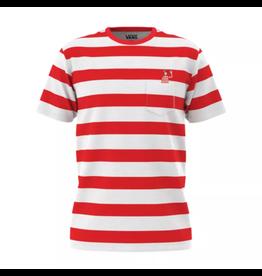 vans Vans - T-shirt homme stripe pocket white racing red where's waldo