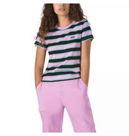 vans Vans - T-shirt femme  baby big stripe black