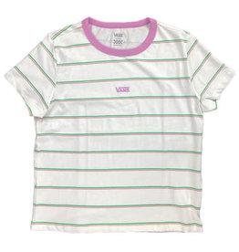 vans Vans - T-shirt femme mini stripe white