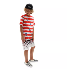 vans Vans - T-shirt  junior vans x where's waldo white racing red