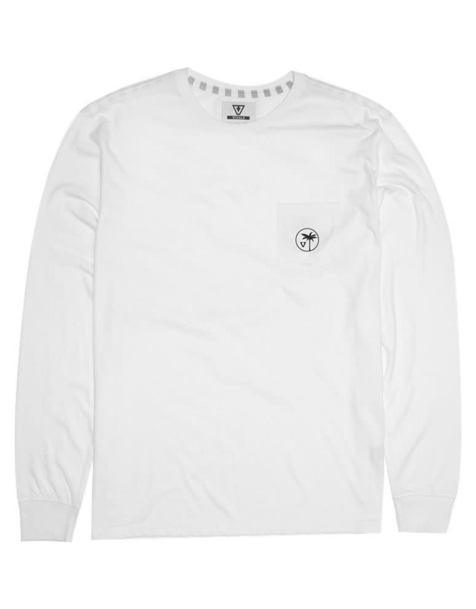 Vissla Vissla - Chandail long homme toasty coast pocket vintage white