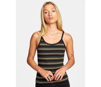 Rvca - Camisole femme distance stripe washed black