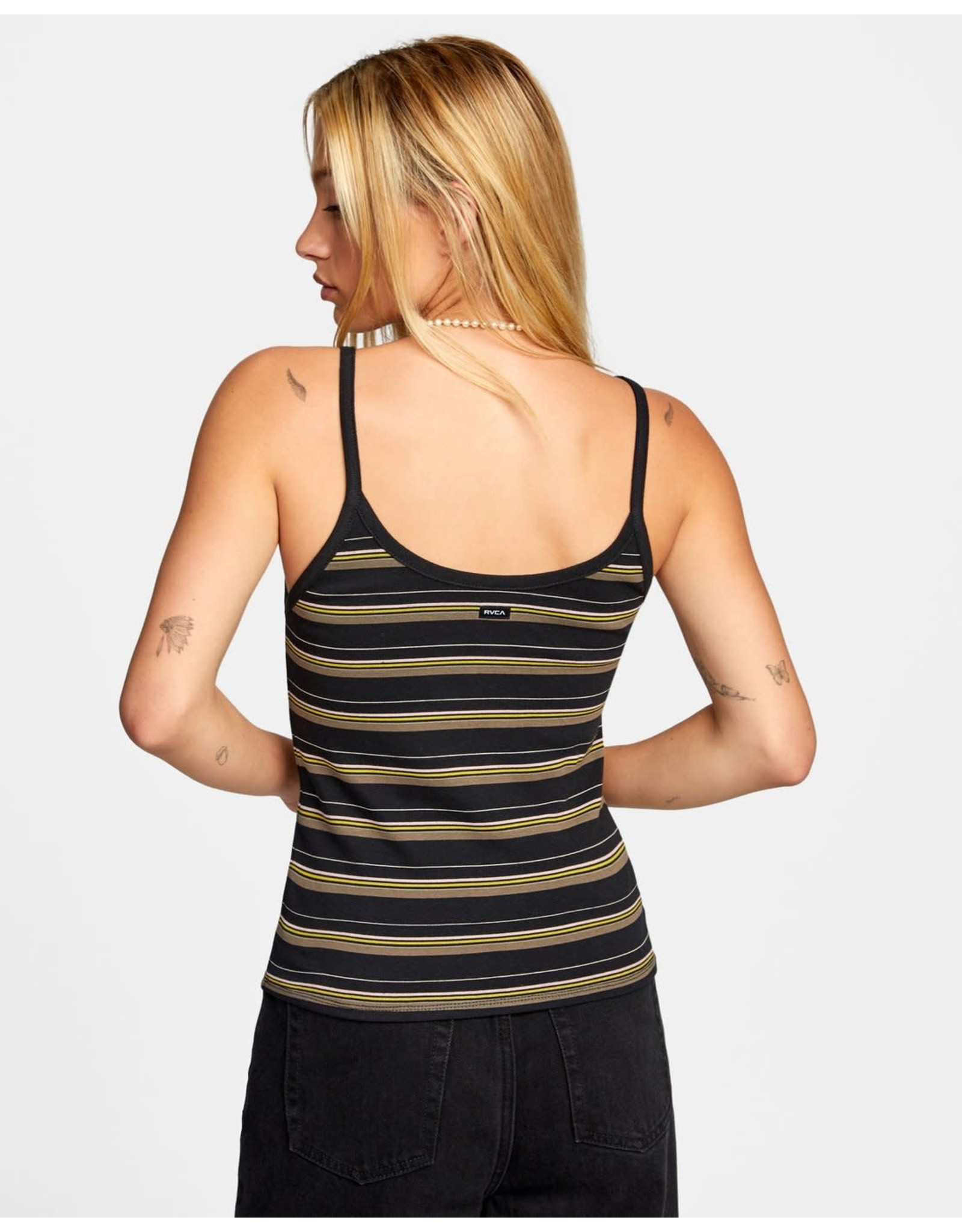 rvca Rvca - Camisole femme distance stripe washed black