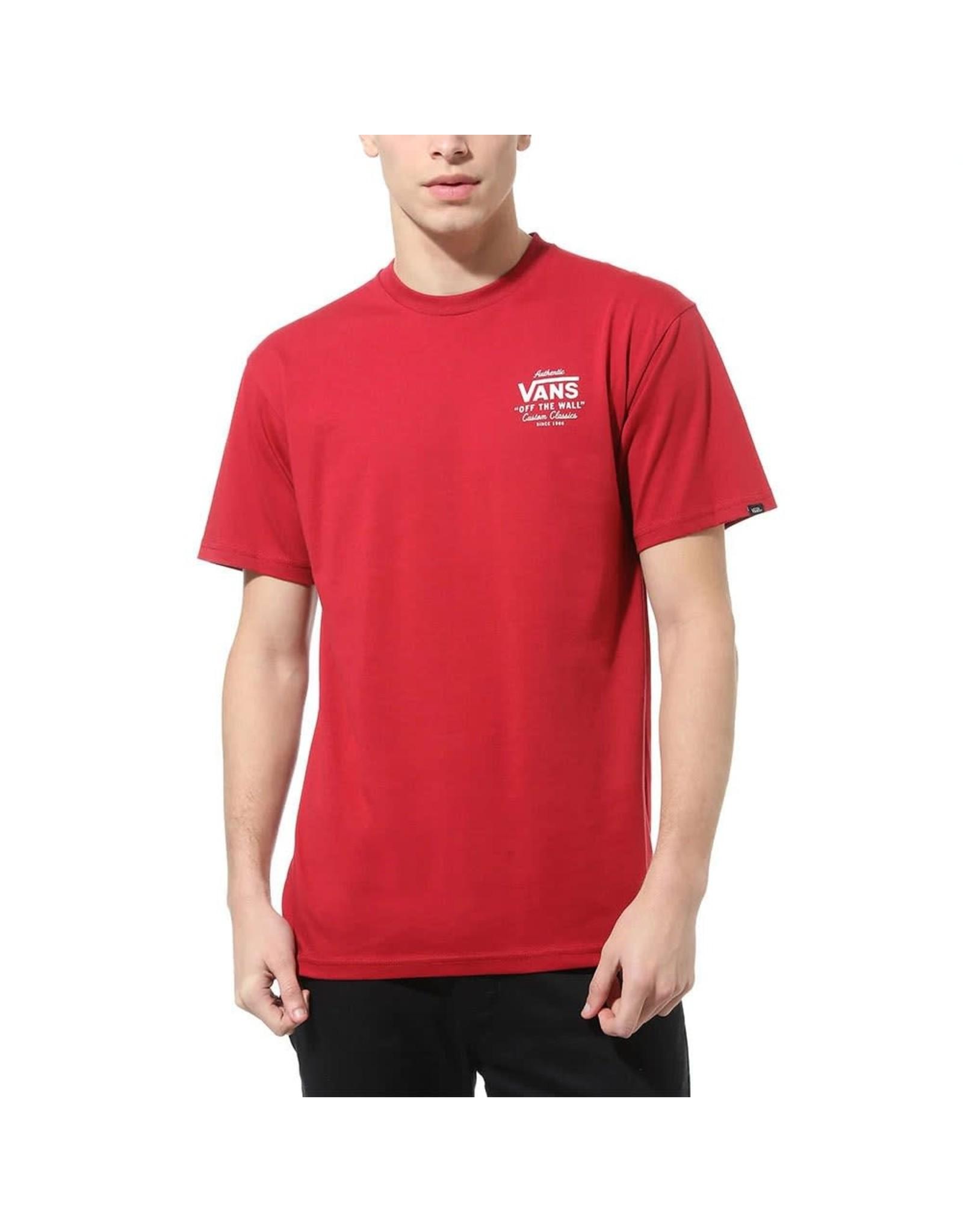 vans Vans - T-shirt homme holder st classic high risk red