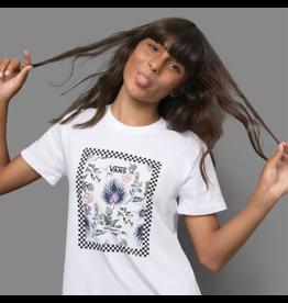 vans Vans - T-shirt femme border floral white
