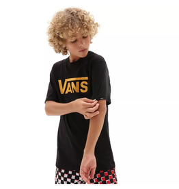 vans Vans - T-shirt junior classic black/saffron
