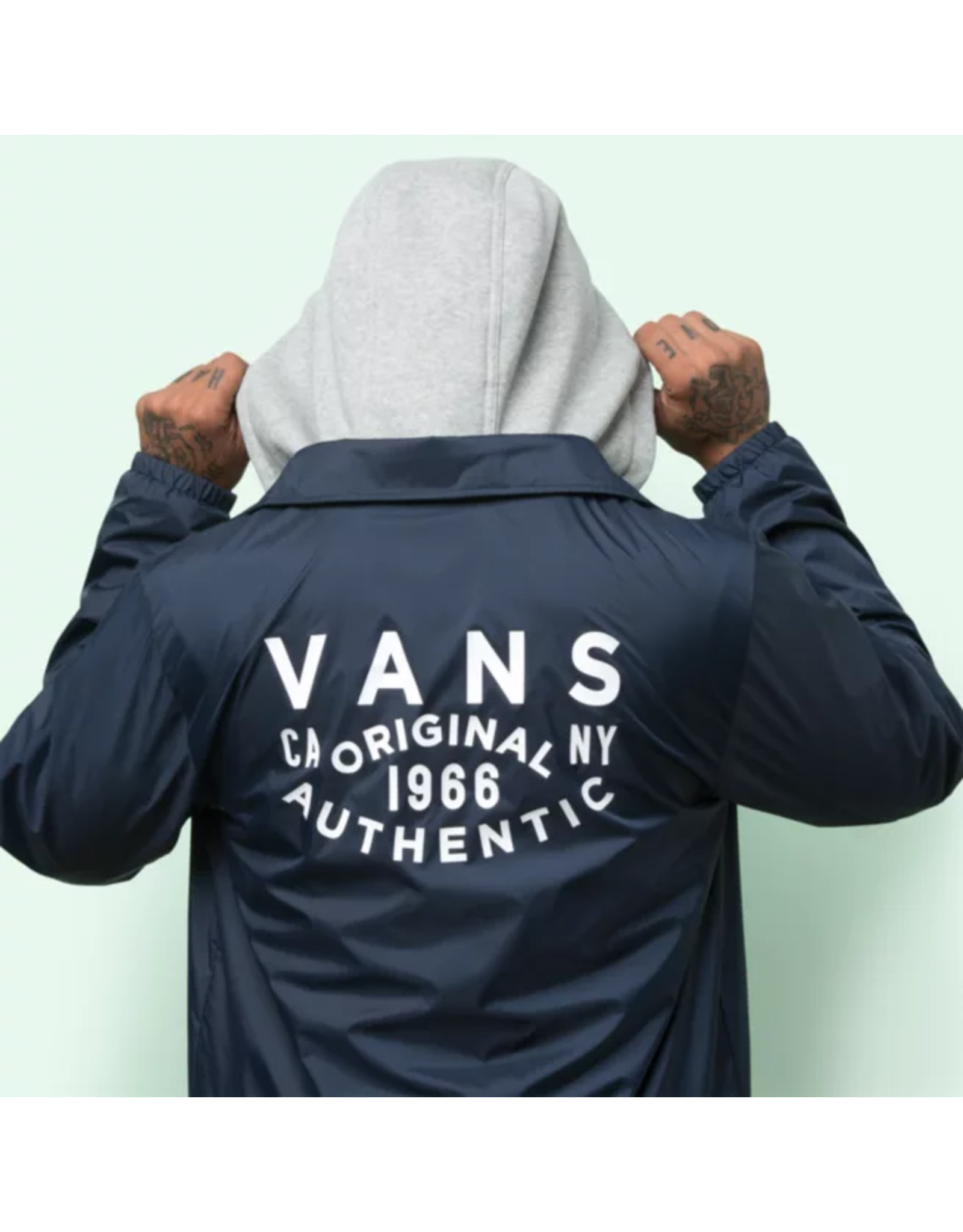 vans Vans - Imperméable homme riley dress blues/athletic logo