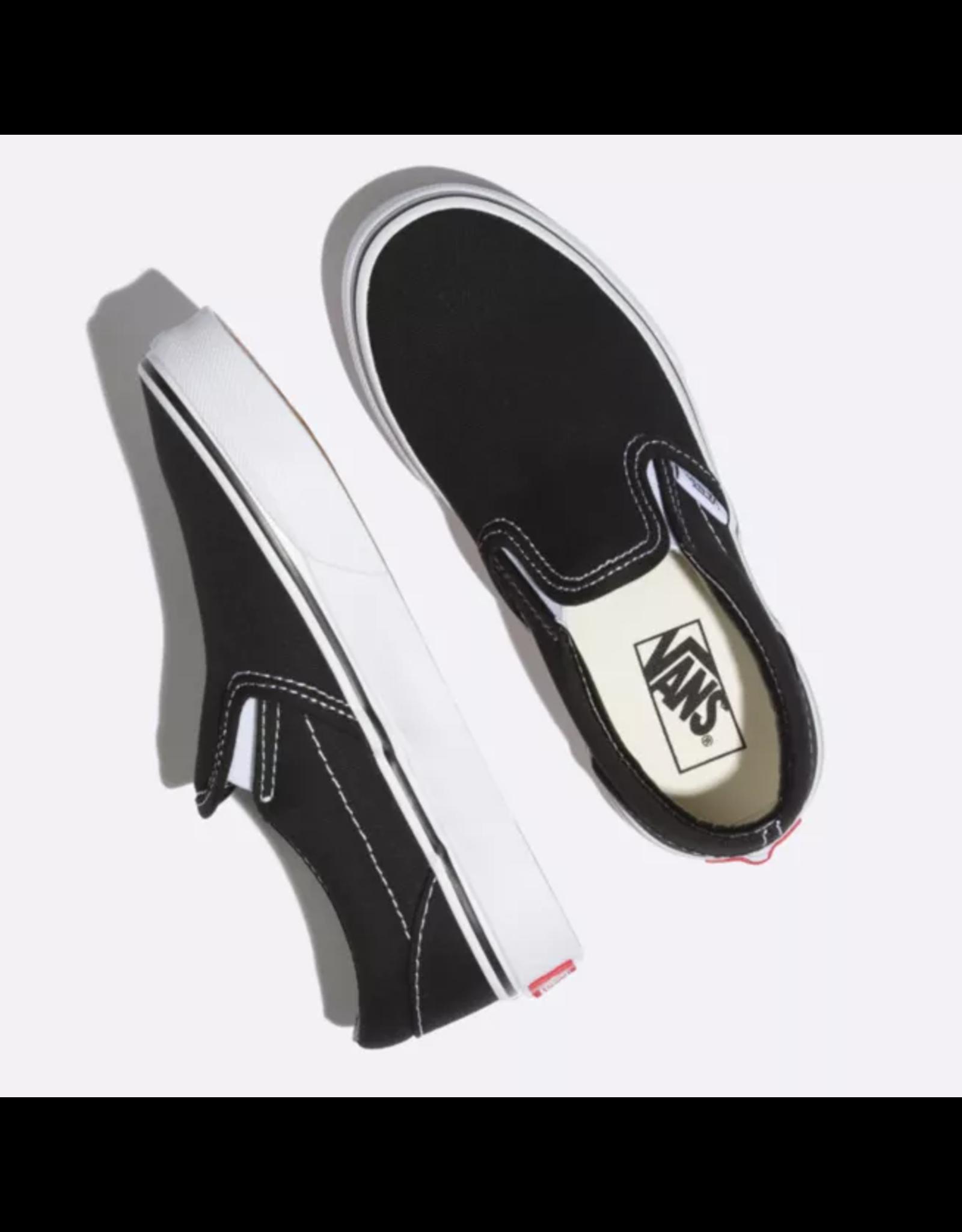 vans Vans - Soulier junior classic slip-on black/true white