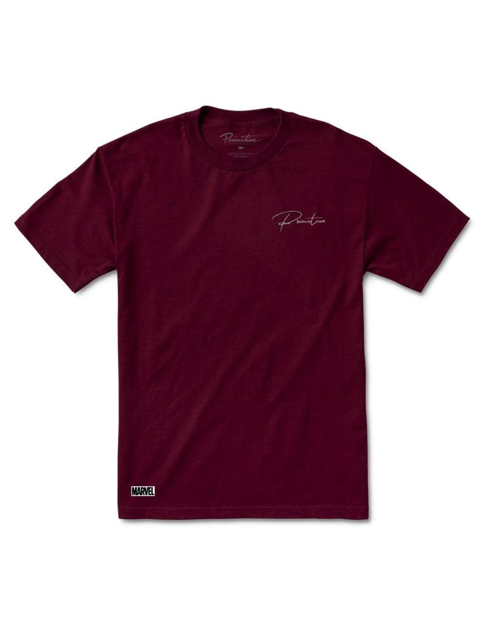 primitive Primitive - T-shirt homme marvel wolverine burgundy
