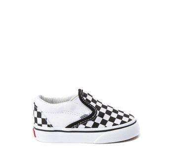 Vans - Soulier toddler classic slip-on blk/white checkerboard