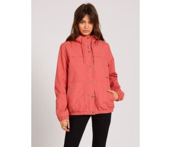 Volcom - Imperméable femme enemy stone dust red