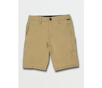 Volcom - Short junior snt static dark khaki