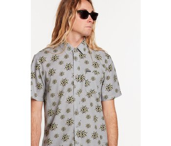 Volcom - Chemise homme burch bloom tower grey
