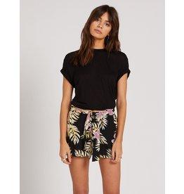 volcom Volcom - Short femme forget yourself black floral print